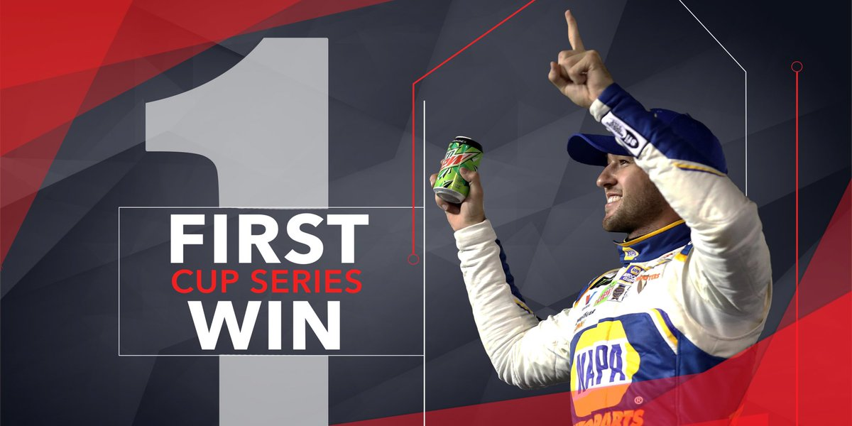 We #di9 this!  @chaseelliott captures his first career #NASCAR Cup Series win!
