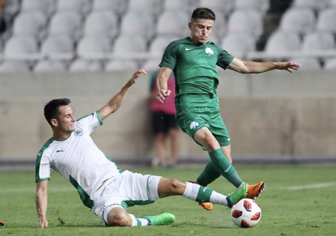 Muy contento por haberme estrenado en nuestro estadio con una victoria ante un importante rival. Bonito ambiente!!! Happy for the victory in my first game in our stadium against an important team! Great atmosphere! 💚 #Omonoia #Panathinaikos