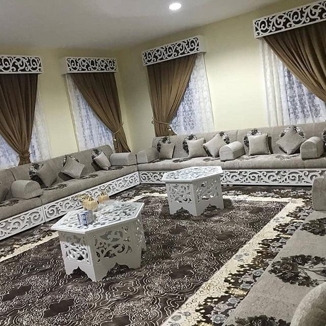كنب متصل Living Room Design Decor Home Design Living Room Luxury Sofa Design