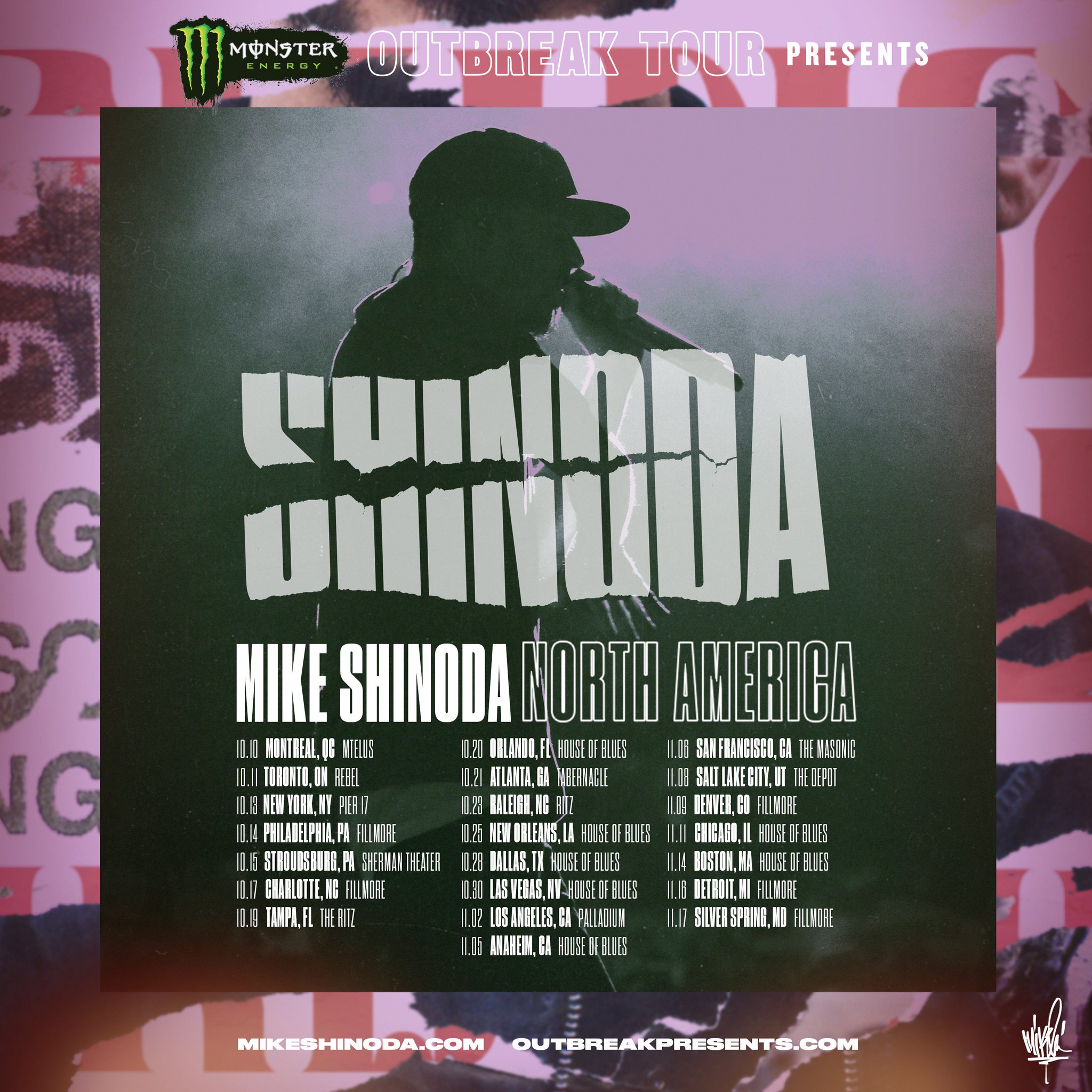 /// mid west Monster Energy #OutbreakTour   Tickets on sale now: https://t.co/ZNuwy5udqk https://t.co/szDocEGqNS