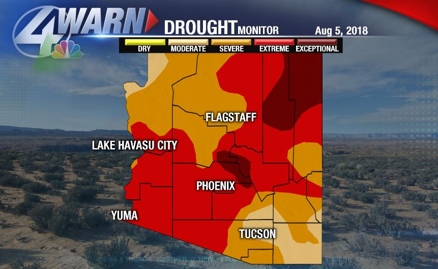 Kvoa News 4 Tucson On Twitter Extreme Drought Conditions Persist