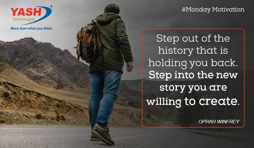 It's Monday, time to step out of the history that is holding you back. Step into the new story you are willing to create.   - Oprah Winfrey  #MondayMotivation #MotivationaQuote <br>http://pic.twitter.com/SZgYonciYt