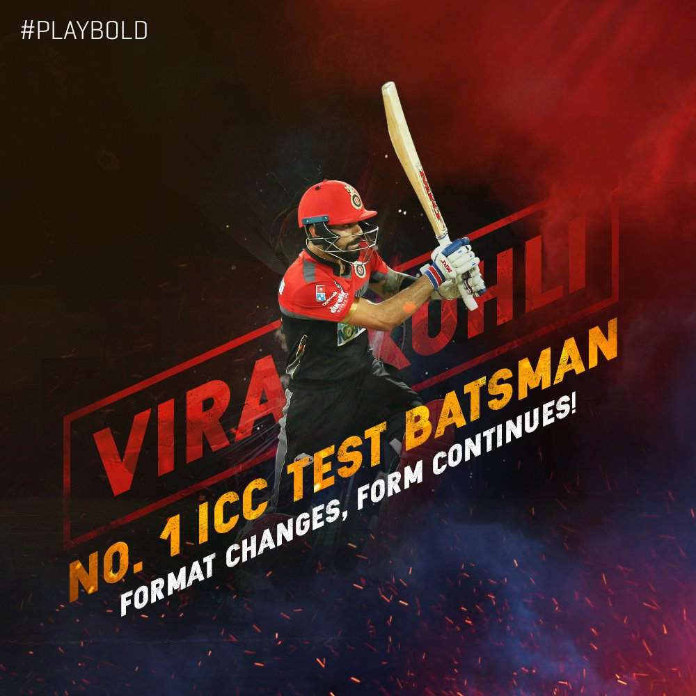 World no.1️⃣ in Test ✅ World no.1️⃣ in ODIs ✅  Captain @imVkohli rises to the top of the ICC Test Batsmen Rankings after his dazzling performance in the first Test against 🏴. #PlayBold