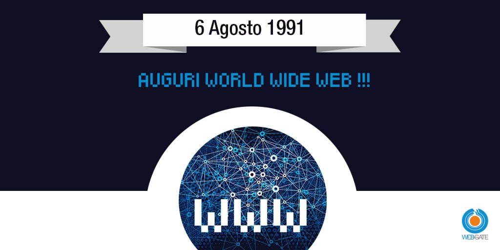 Il #6agosto 1991 @timberners_lee pubblica il primo sito World Wide Web sulla rete internet. _______________________________________________  Tim Berners-Lee releases files describing his idea for the World Wide Web. WWW debuts as a publicly available service on the Internet.<br>http://pic.twitter.com/LxtdAGevNG