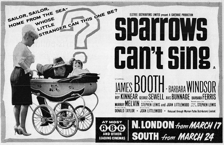 """films and filming on Twitter: """"Joan Littlewood's 'Sparrows Can't ..."""