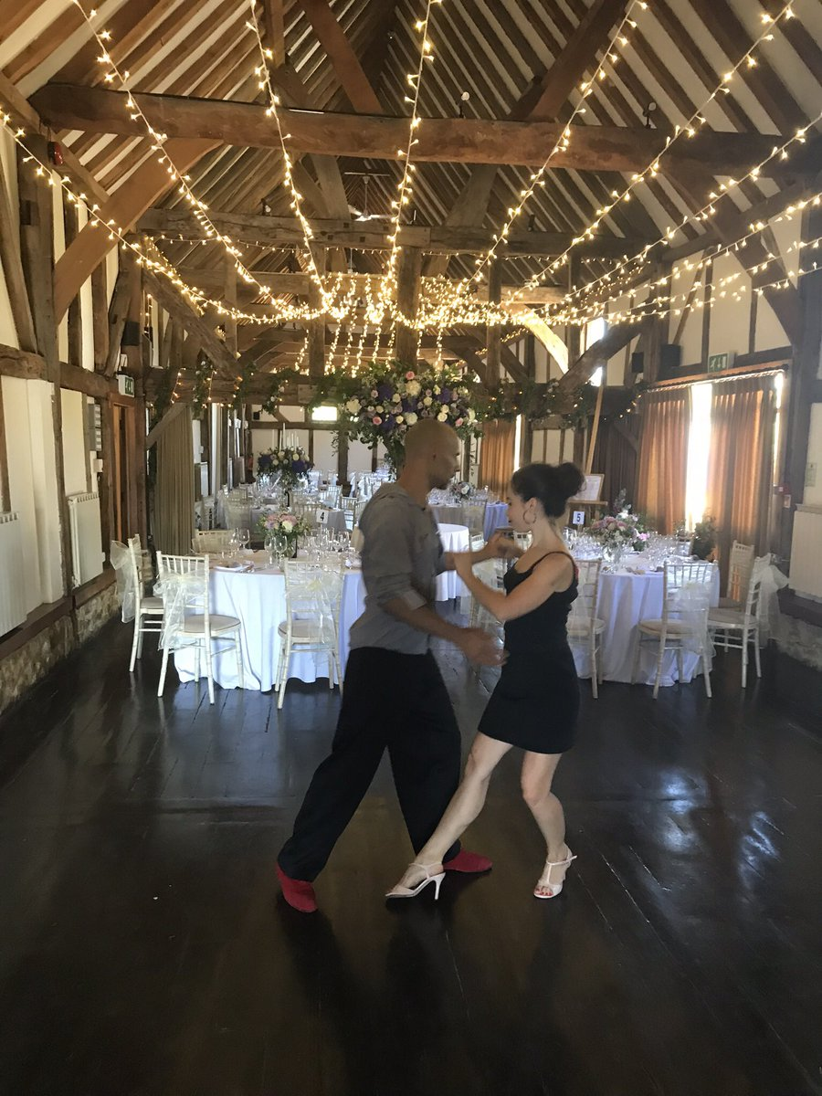 RT @SantiagoQuartet Richard and Emma preparing for our show yesterday @LoseleyPark We played background #ClassicalMusic #jazz and #pop and then a Tango show with @jrbando and dance. @Official_MFMW @WeddingWire @WeddingbellsMag @PracticalWed #corporateevents #weddings