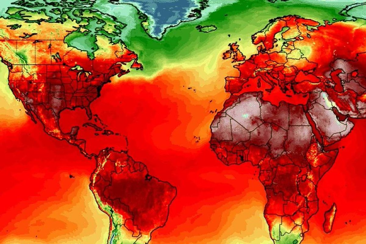 ALARMING: All-time hottest temperature records set ALL OVER THE WORLD this past week: bit.ly/2KvaiDH Thats why we need URGENT climate action! Image from UMaines Climate Reanalyzer, a GR8 resource at bit.ly/2OP6dh4 #climatechange #GlobalWarming #Sustainability
