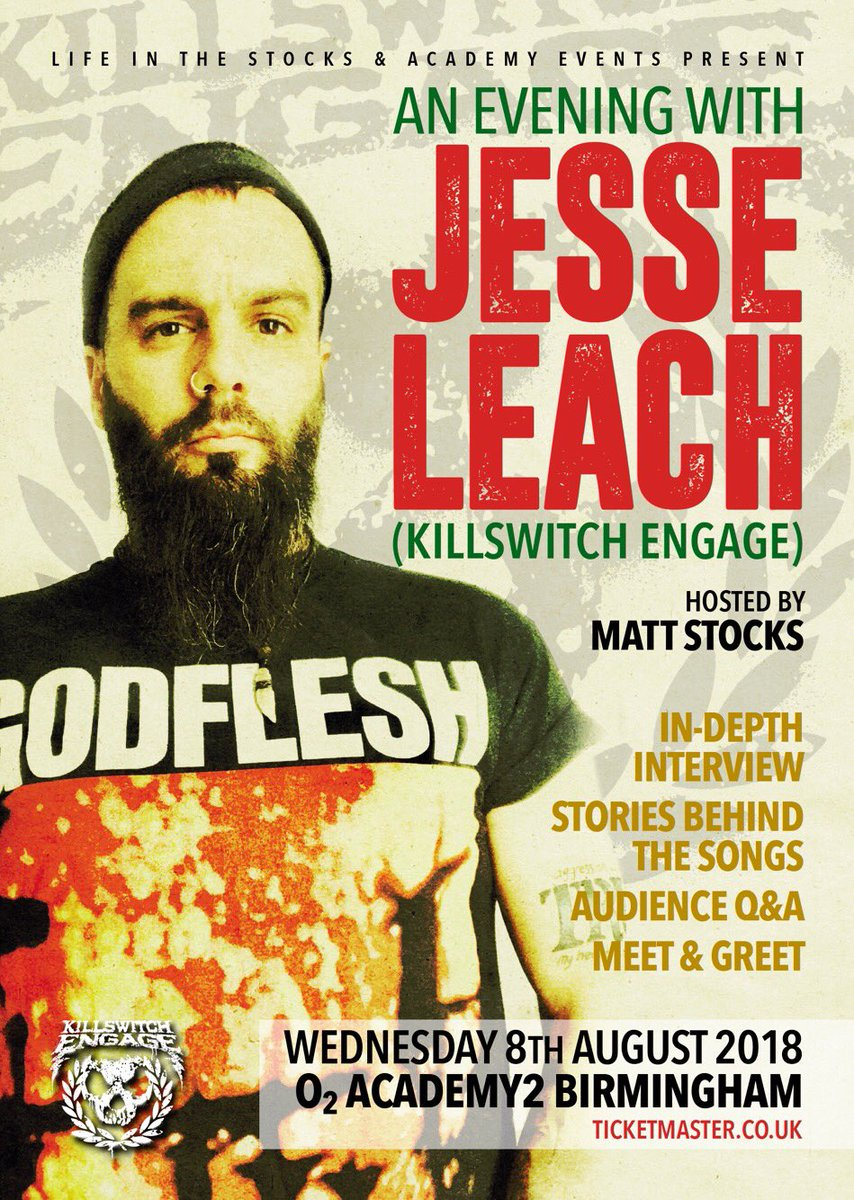 Killswitch engage kseofficial twitter killswitch engage jesse leach o2 academybirmingham and academy events m4hsunfo