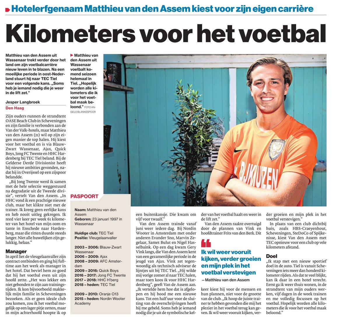 Jesper Langbroek в Twitter Matthieu Van Den Assem Trekt