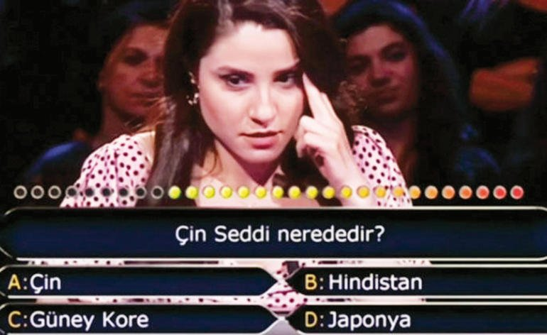 Turkish contestant fails to answer 'where is Great Wall of China?' https://t.co/H42CrwKO9Z