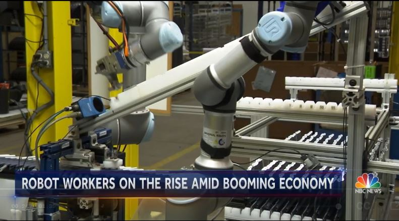 Pioneer Metal Finishing In Michigan NBCNews Has The Story On How UR Certified System Integrator Hirebotics Now Installs Robots And Have Them Work