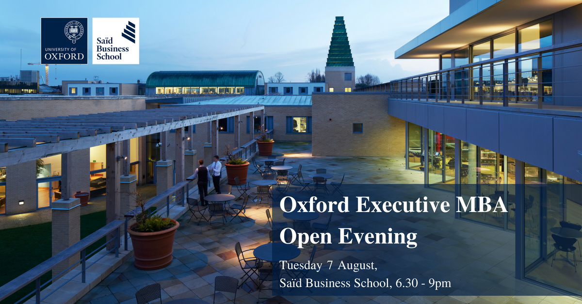 Register for our Oxford Executive MBA Open Evening on Tuesday 7 August. Meet current students and learn about their journey. Book your place: https://t.co/NjU0vMDqgu