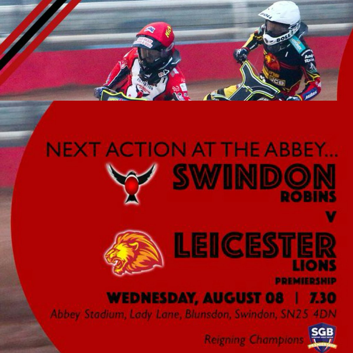 🏁🔝 🏁 THE PUSH FOR THE PLAY OFFS 🔝🏁🔝 ➡ Weekly Paying Fans ➡ RT & WIN 2 TICKETS TO THIS FIXTURE 🔴⚠ ➡ Season Ticket Holders ➡ SHARE & WIN TO WATCH TWO RACES FROM THE CENTRE GREEN 🔴⚠ #swindon #speedway #win #tickets #leicester