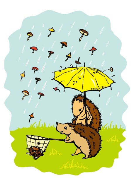 День грибного дождя картинки прикольные, октября