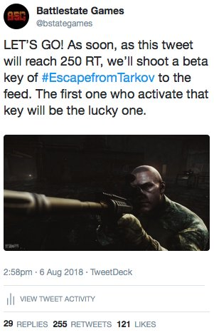 escape from tarkov game key