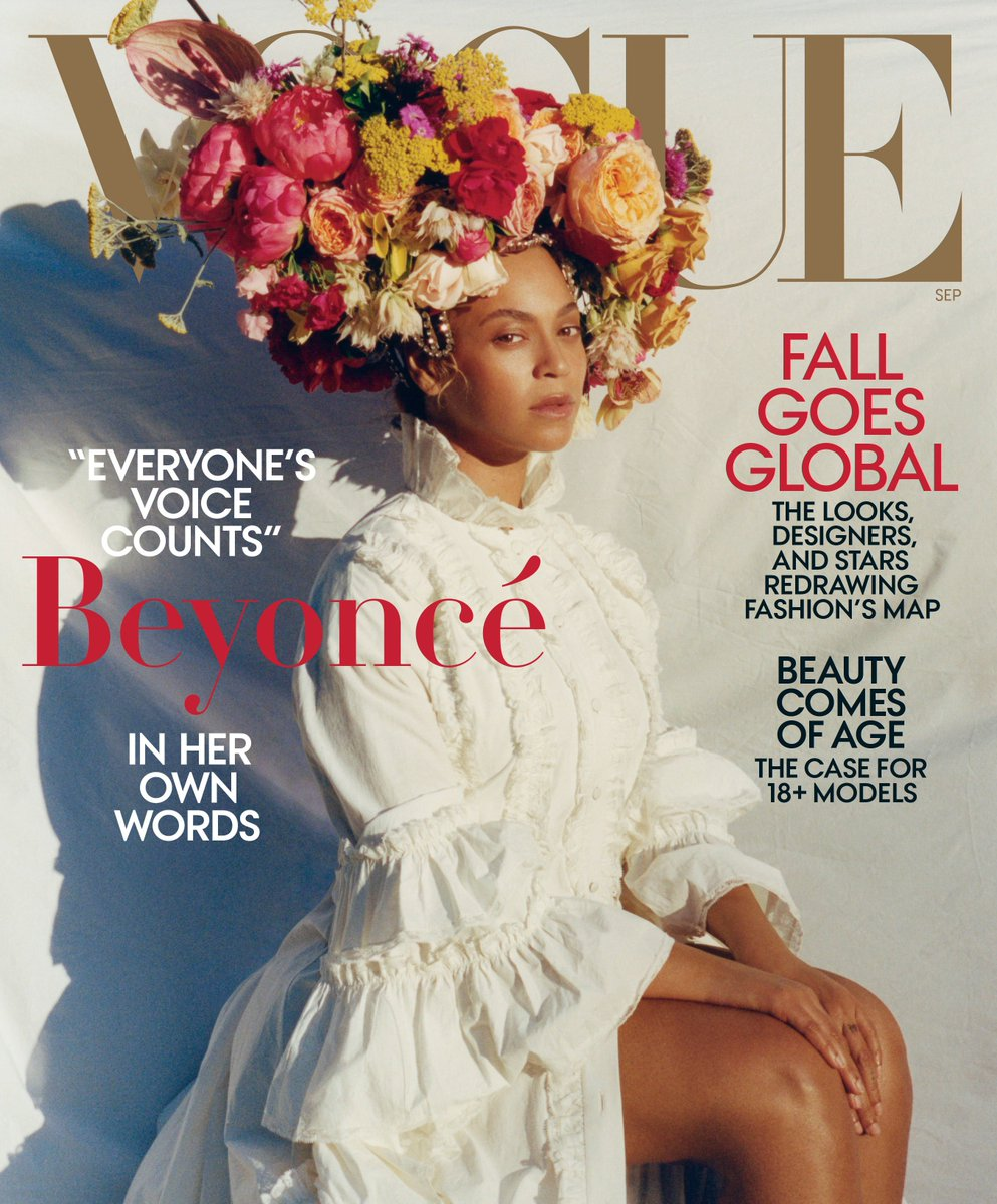 Reloaded twaddle – RT @voguemagazine: It's here! @Beyonce stars on the cover of our September issue...