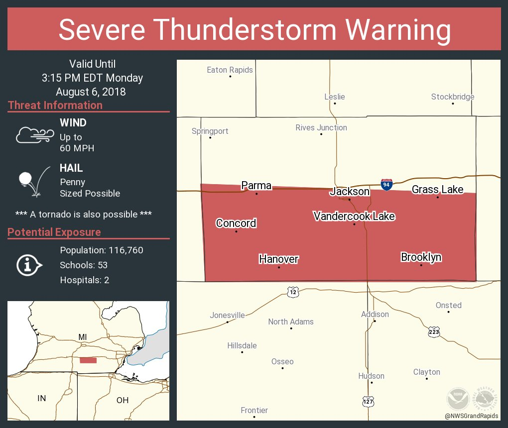 Concord Michigan Map.Nws Grand Rapids On Twitter Severe Thunderstorm Warning Including