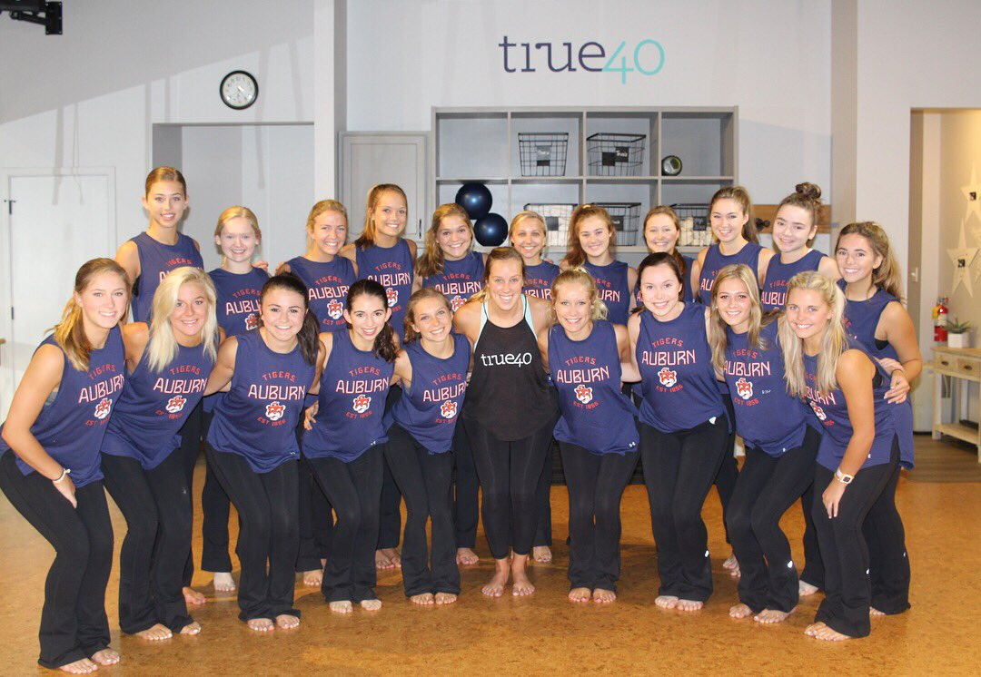 2018 au cheerleaders  tiger paws  danceline