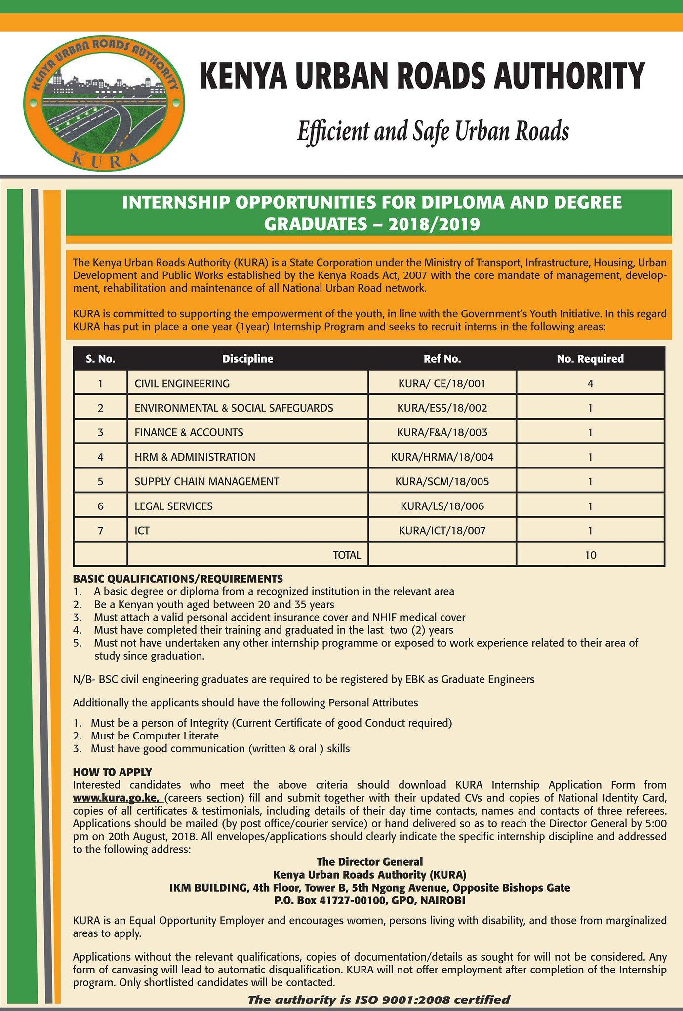 Kura Internship Opportunities 2018