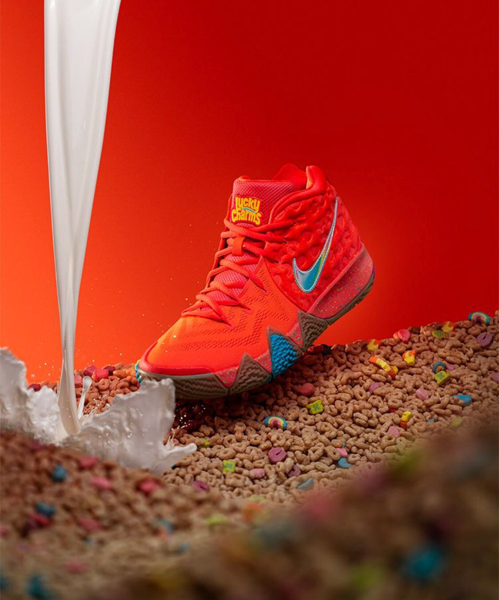 premium selection cb12c 433f4 Kyrie 4 Lucky Charms,Cinnamon Toast Crunch and Kix dropping ...