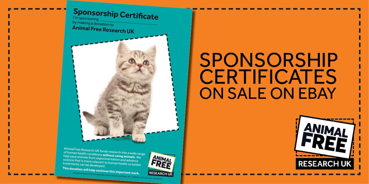 Animalfreeresearchuk On Twitter With A Sponsor Certificate You Can