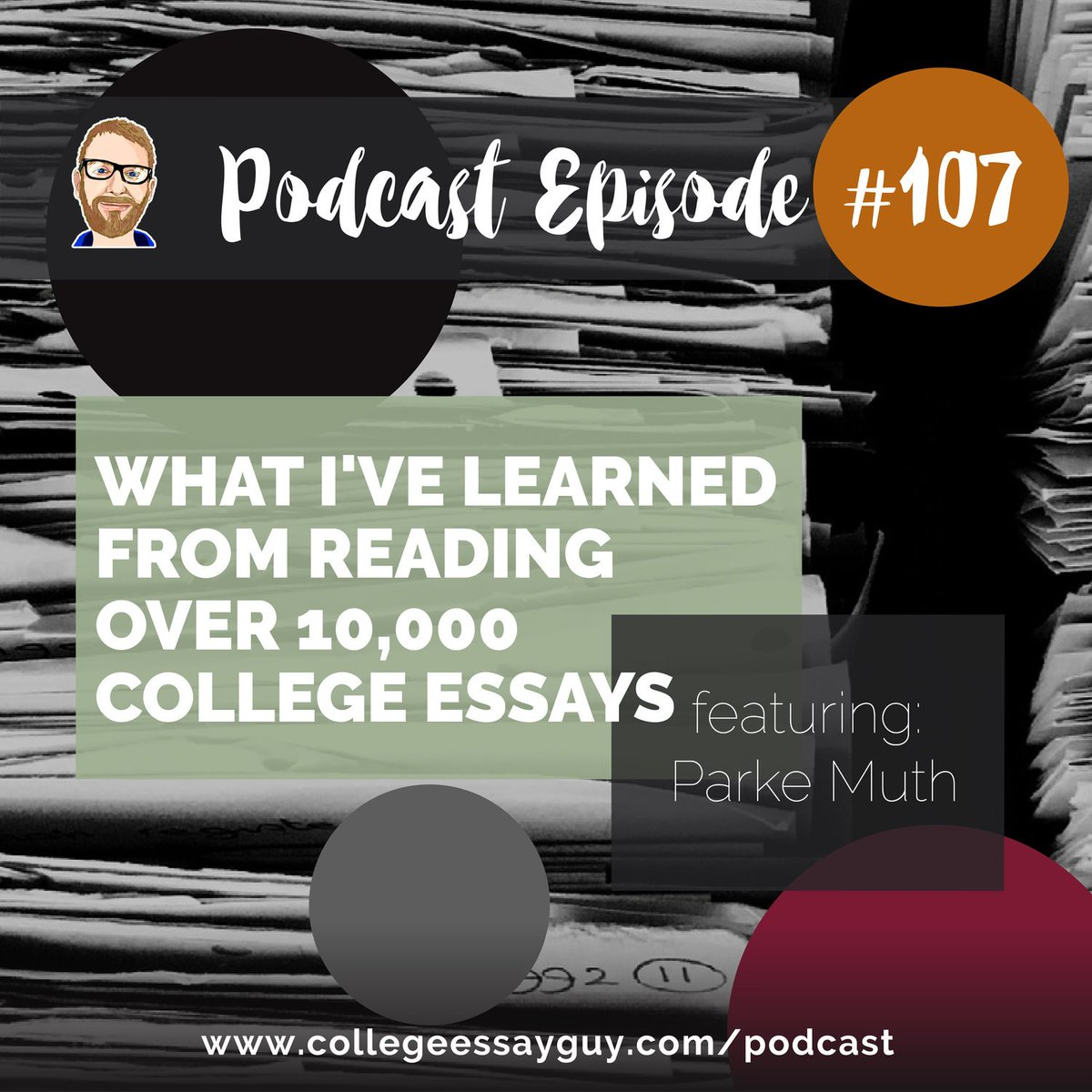 This episode is special because it's an interview with one of my heroes of the college admissions world, @PMuthConsulting. He spent 28 years in the office of Admissions at UVa, and he shares what he's learned from reading over 10,000 college essays. 🎧: goo.gl/hxPJB6