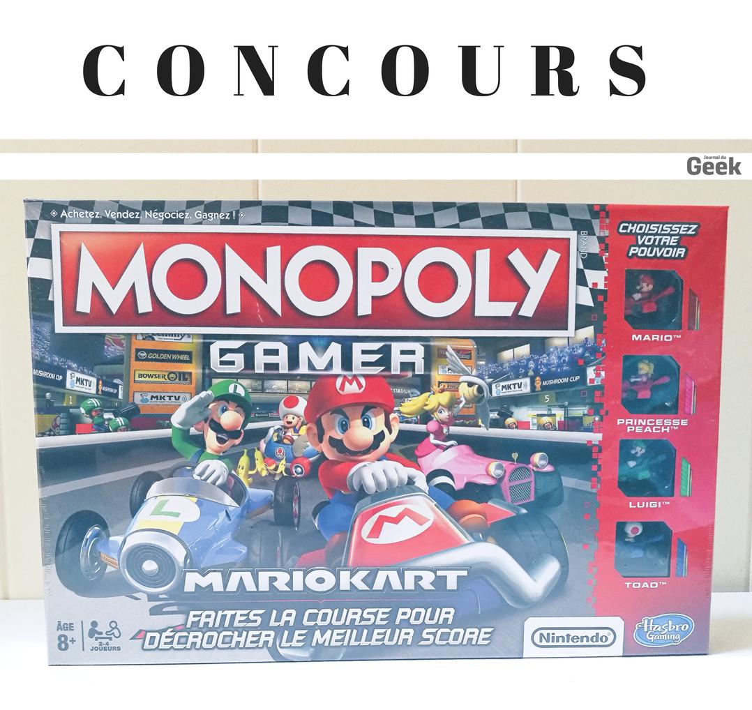 [ #CONCOURS ] Tentez de gagner ce jeu #MonopolyGamer Mario Kart 🚗 Pour participer : RT + Follow le @JournalDuGeek 🎲