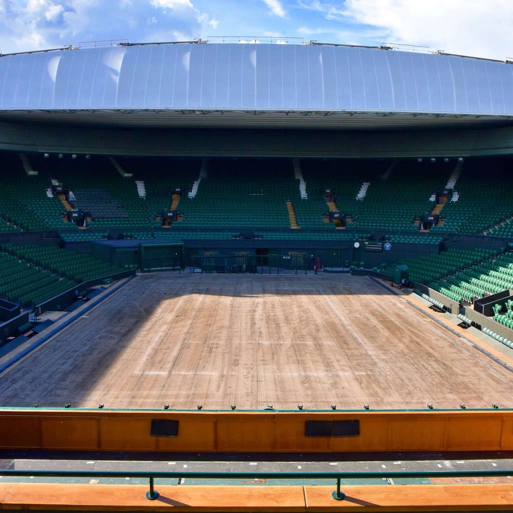 Just 11 days after being planted, the 2019 Championships grass was mown for the first time today 🌱 #Wimbledon