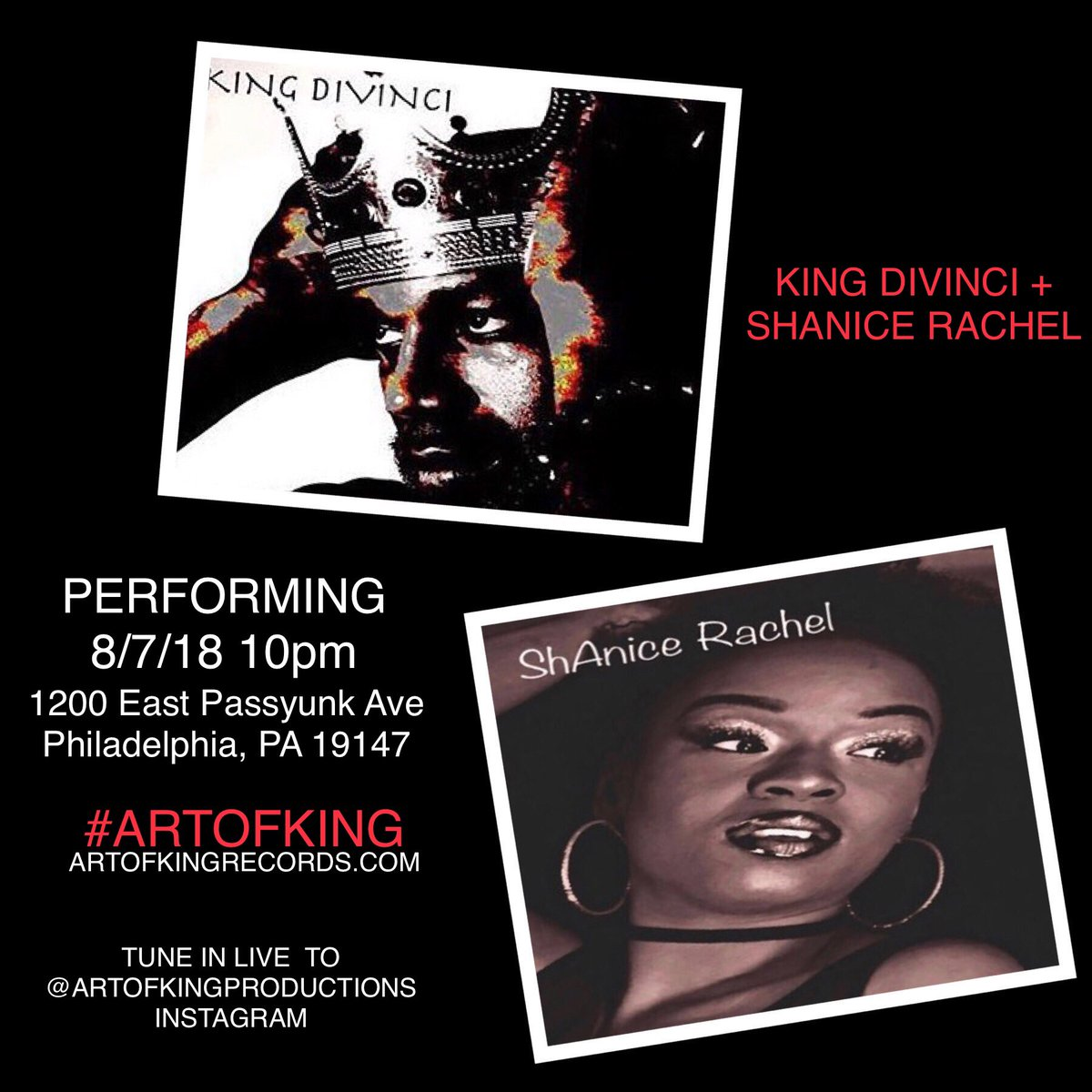 SEE YOU THERE  COME THRU OR TUNE IN @artofkingproductions @shanice_rachel  #ARTOFKING  #phillyhiphop #southphilly #indie #homecoming #interview #phillysupportphilly #rapper #hiphop #philly #baltimore #radio #collegeradio #shanicerachel #instafamous #gainpost #xxl <br>http://pic.twitter.com/1mdIfnlcAb