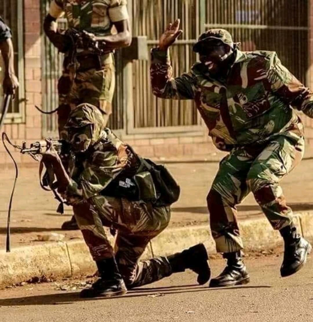 Image result for zimbabwe military shootings