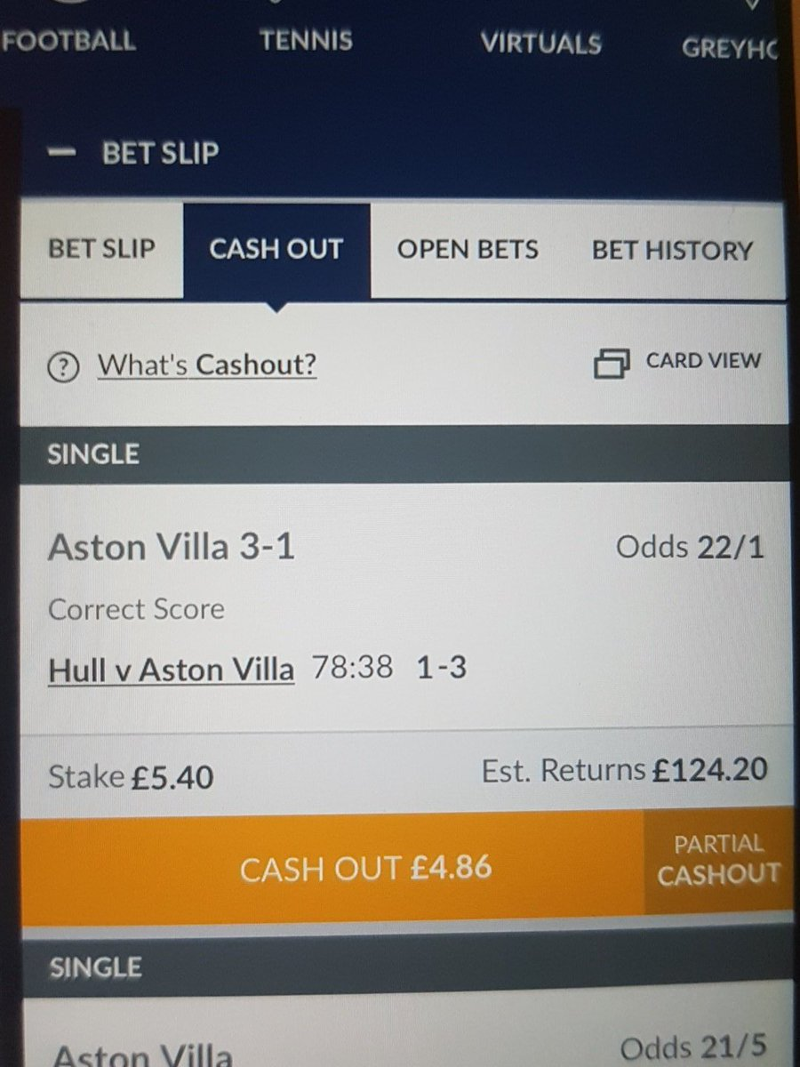 Cash out coral betting slip sports betting africa normal results barium
