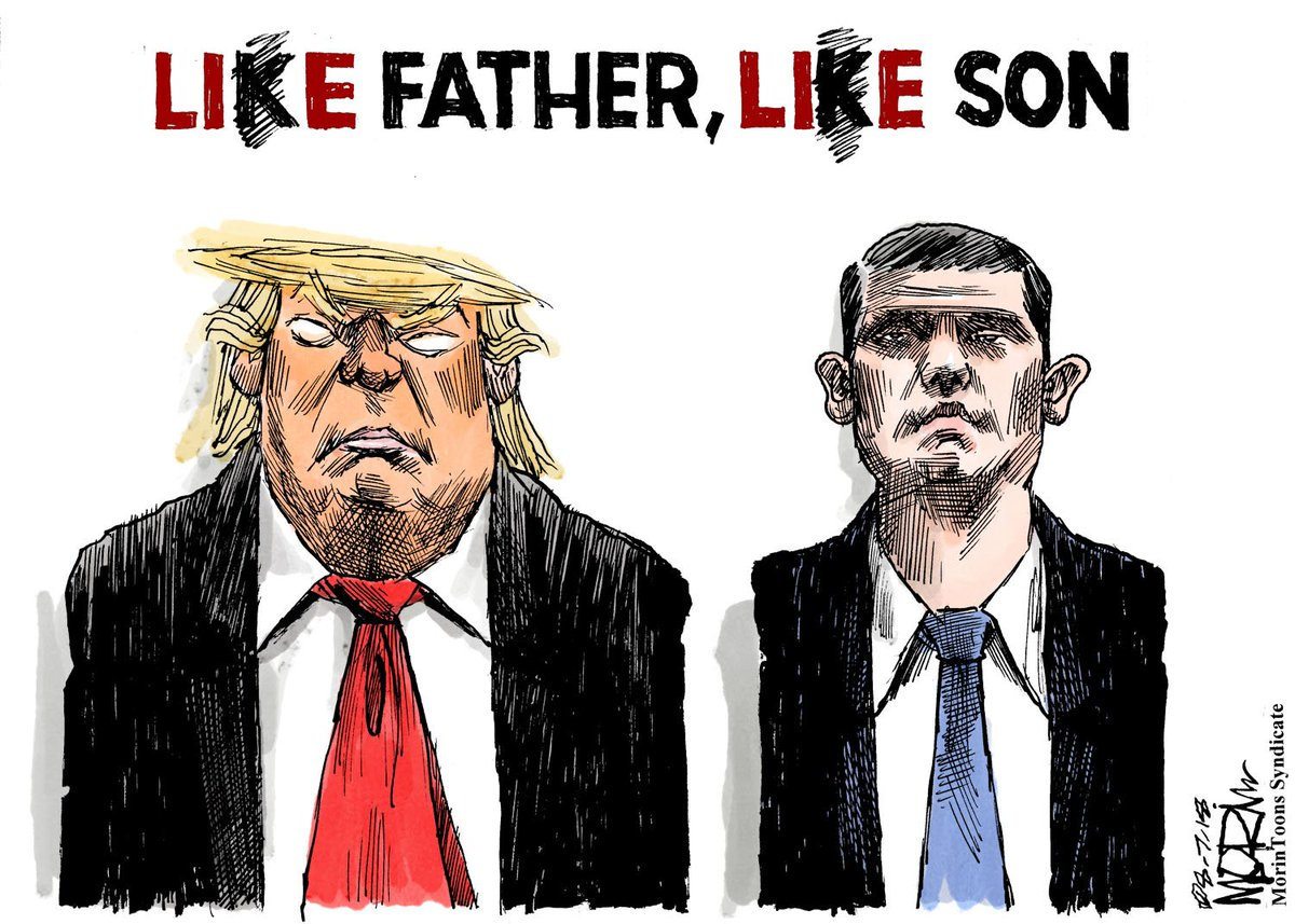 The rotten apples don&#39;t fall far from the tree #morintoon #DonaldTrumpJr #TrumpTower #TrumpRussiaCollusion #TrumpRussiaConspiracy #TrumpCrimeFamily<br>http://pic.twitter.com/J8llSCYmYC