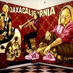 """Lunch at the Central Library where I finally got to see the art exhibit """"Visualizing Language: Oaxaca in LA""""...remarkable murals & narrative! @Tlacolulokos1 @LAPublicLibrary #PSTLALA #OaxaCalifornia"""