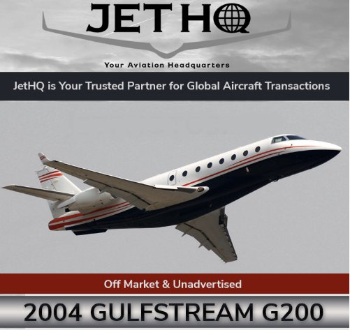 Off Market and Unadvertised 2004 #Gulfstream #G200 available through @JetHQAv  Program Enrolled 10 Pax Executive configuration EASA certified View full specs at  http:// ow.ly/zaLJ30li8Lj  &nbsp;    #bizjet #bizav #aircraftforsale #privateaviation #privatejet #privateflying #jetforsale <br>http://pic.twitter.com/l9goR1RNe4