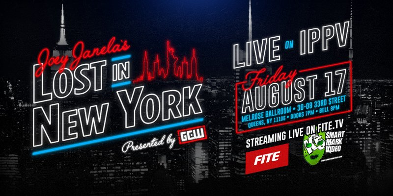 *BREAKING NEWS* Joey Janelas Lost in New York WILL be streamed LIVE on iPPV! We have partnered w/ our good friends at Smart Mark Video & FiteTV to make sure everyone can watch LIVE as we all get #Lost on Friday 8/17 in NYC! Order Now: fite.tv/watch/joey-jan…