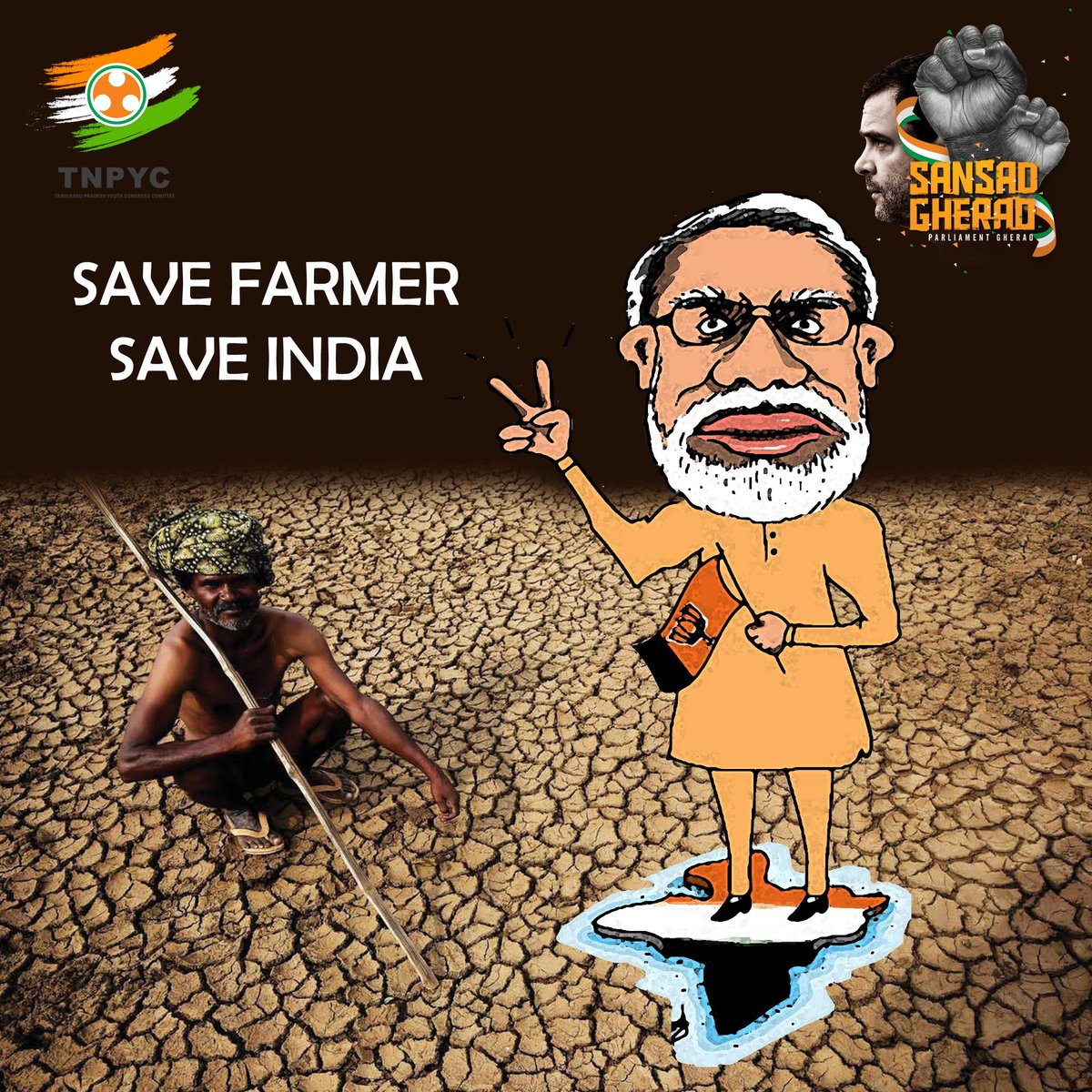 Save farmer 😢 Save India #SansadGherao