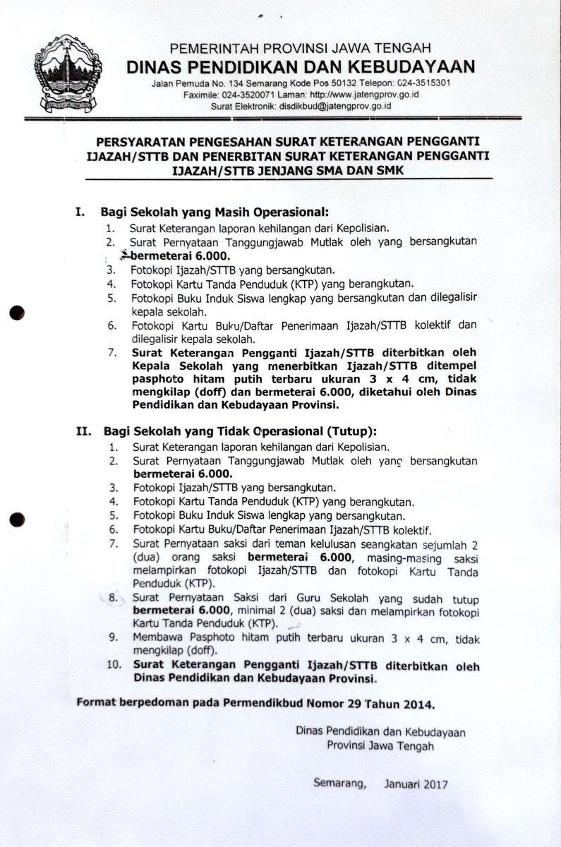 Dinas Pendidikan Kebudayaan Provinsi Jawa Tengah On