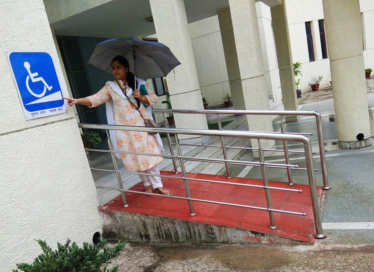 #sugamyabharat at National Institute of Public Cooperation and Child Development (NIPCCD), #Lucknow Wheelchair friendly ramps at entrance of every block here. #MACS4WHEELS #AccessibilityIsOurRight #PMR #Physiatry #सुगम्यभारत #सुगम्यभारतसशक्तभारत