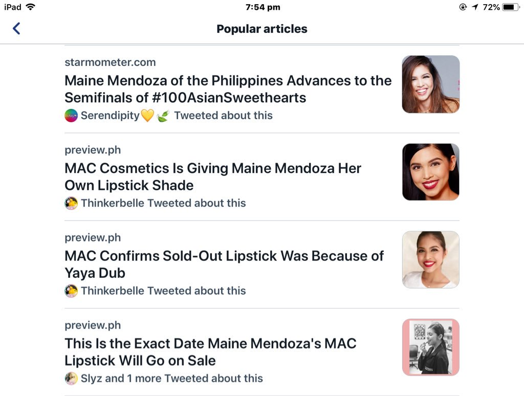 All about Maine, 4 of the popular articles  @mainedcm  @MACcosmetics   #MaineMACLipsAtMOA https://t.co/Mo8a454I7N