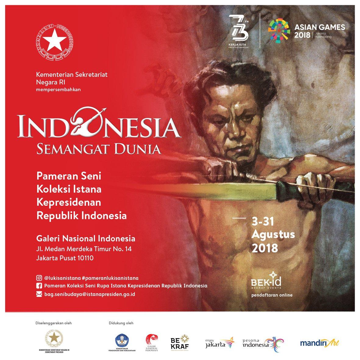 Image result for indonesia semangat dunia galeri nasional