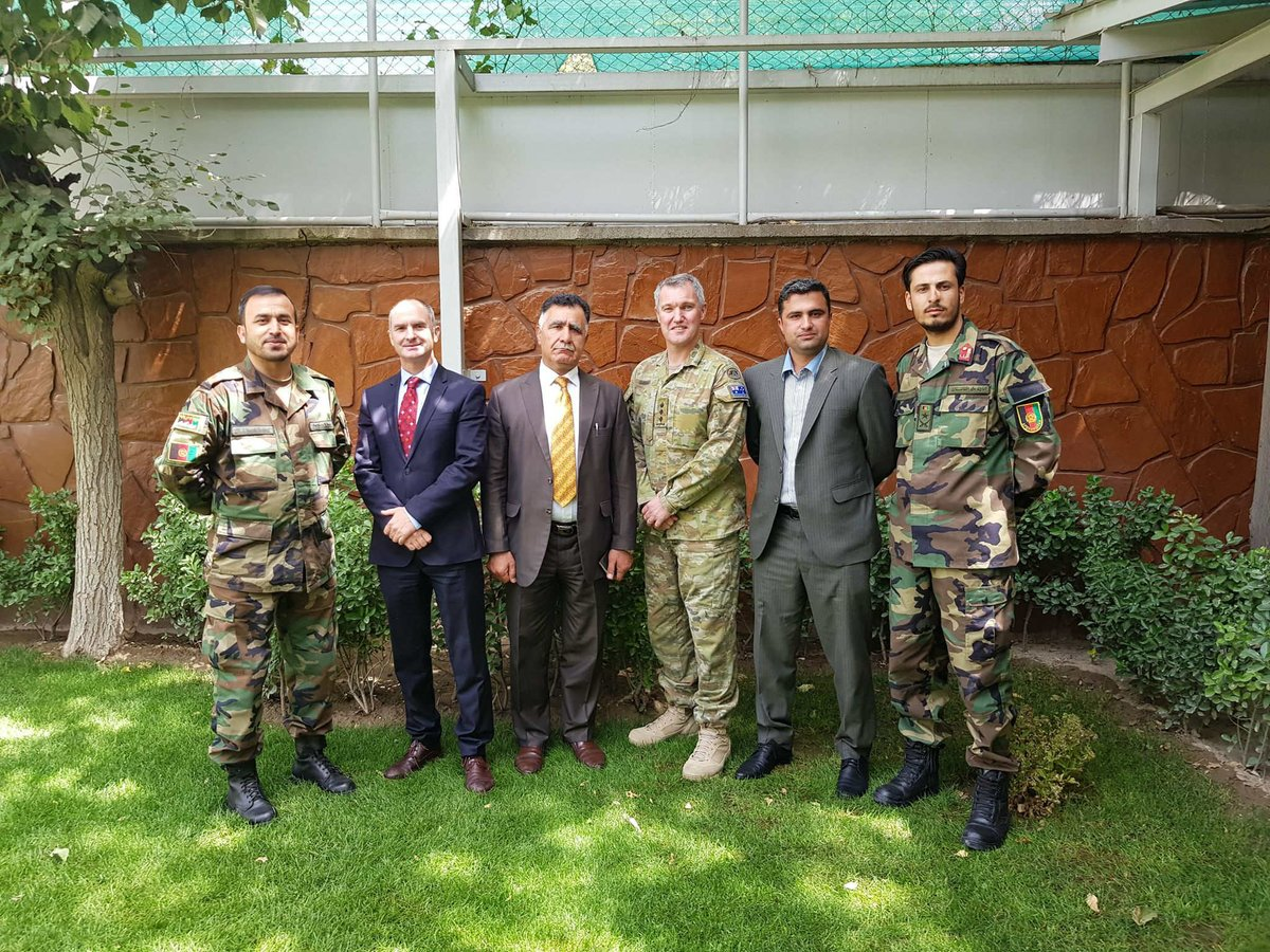 As part of #Australias Defence Cooperation Program in #Afghanistan, the Australian Embassy is proud to say farewell to two Afghan Officers who will study at the Defence International Training Centre #DITC and the @ADC_Australia for the next 18 months. @Commandant_ACSC @CDSS_