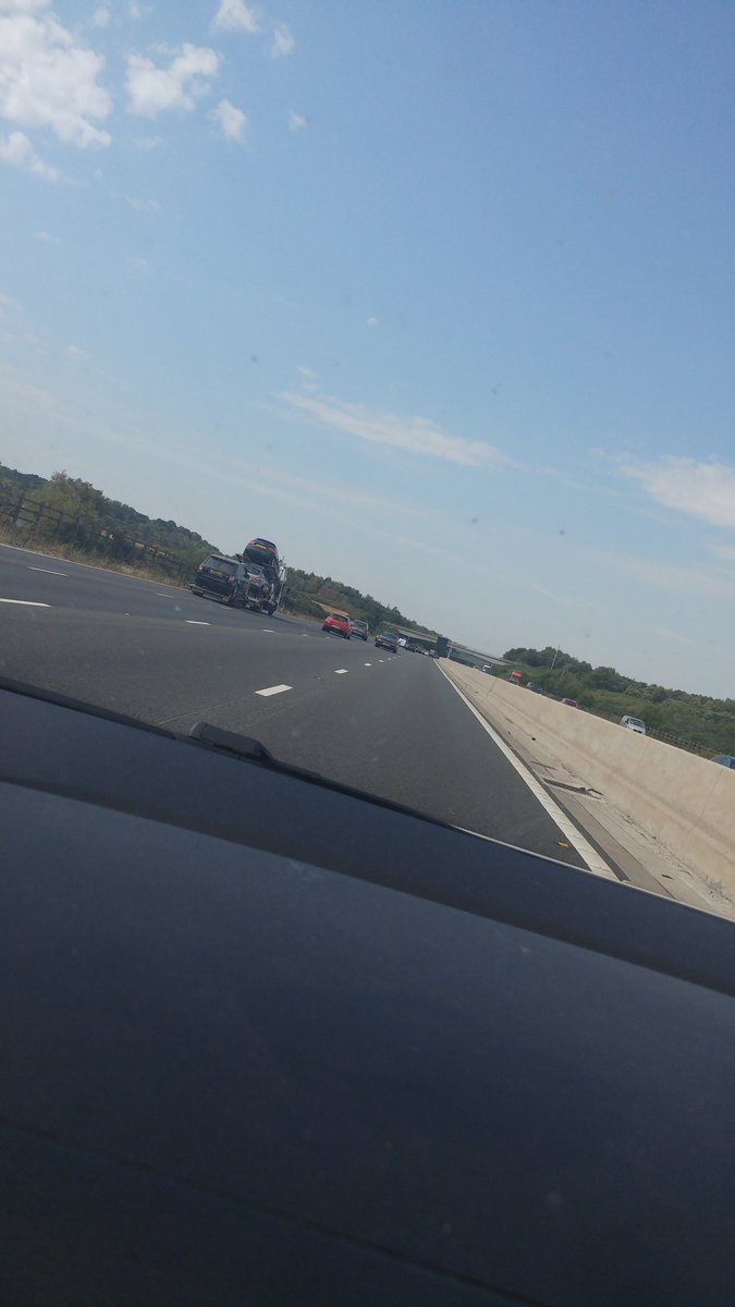 Finally on the M3 and actually going at a reasonable...