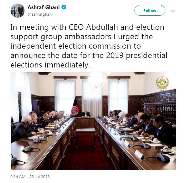afghanelection2019 hashtag on Twitter
