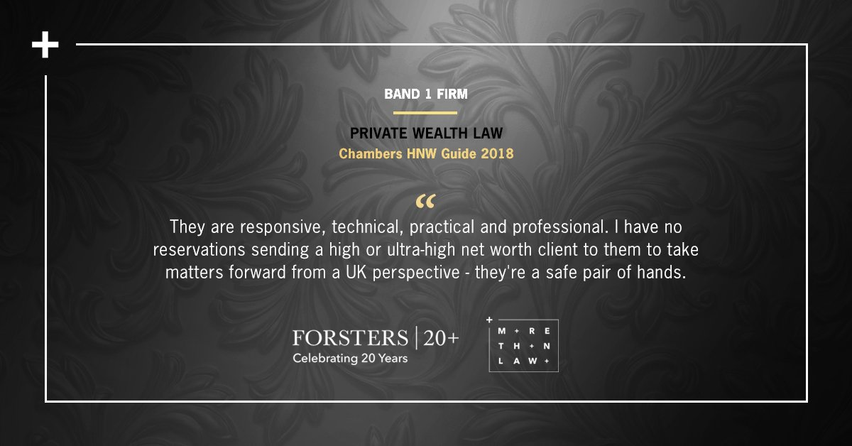 Forsters LLP on Twitter: