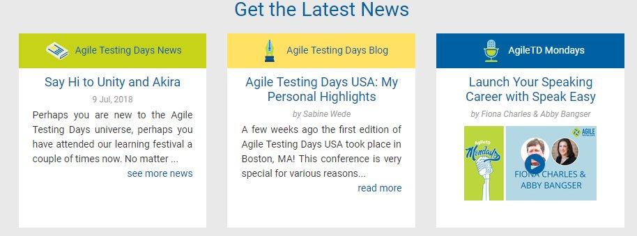 Agile Testing Days on Twitter: