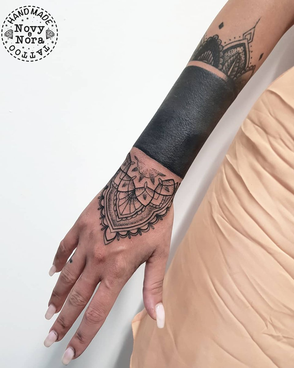 33c4881bc Mandala Art Tattoo #blackband #blacktattoo #mandalabracelet ##mandalahand # mandala #mandalaart