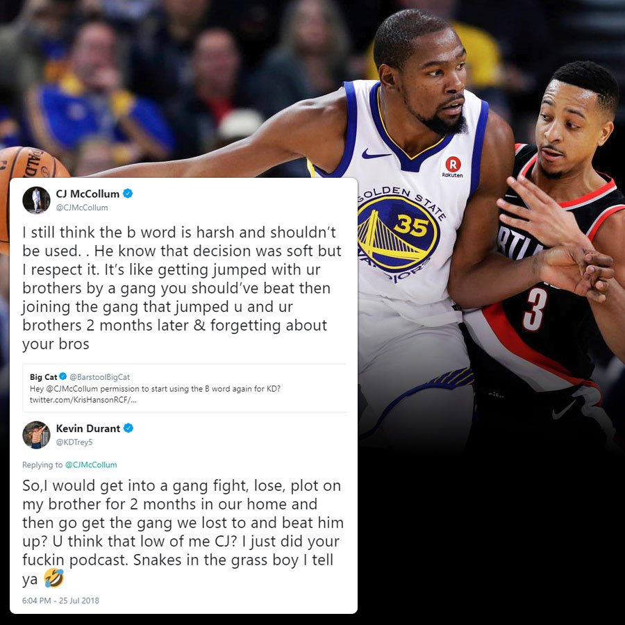 909934ff6cda  ICUMI Kevin Durant   CJ McCollum had some fun on Twitter last night and  people took their tweets too seriously.pic.twitter.com Ffqdps0vpX