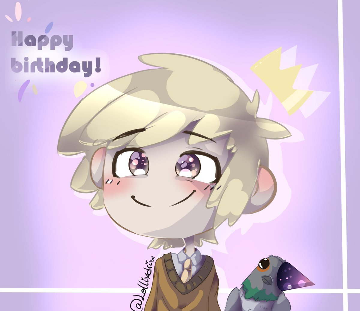 Feliz cumpleaños al pantene-lámpara-Golden boy~ ~°~ ~°~ @edd00chan  #FNAFHS #GoldenFNAFHS #Golden #Guillermito #birthday #happybirthday #cumpleaños #edd00chan