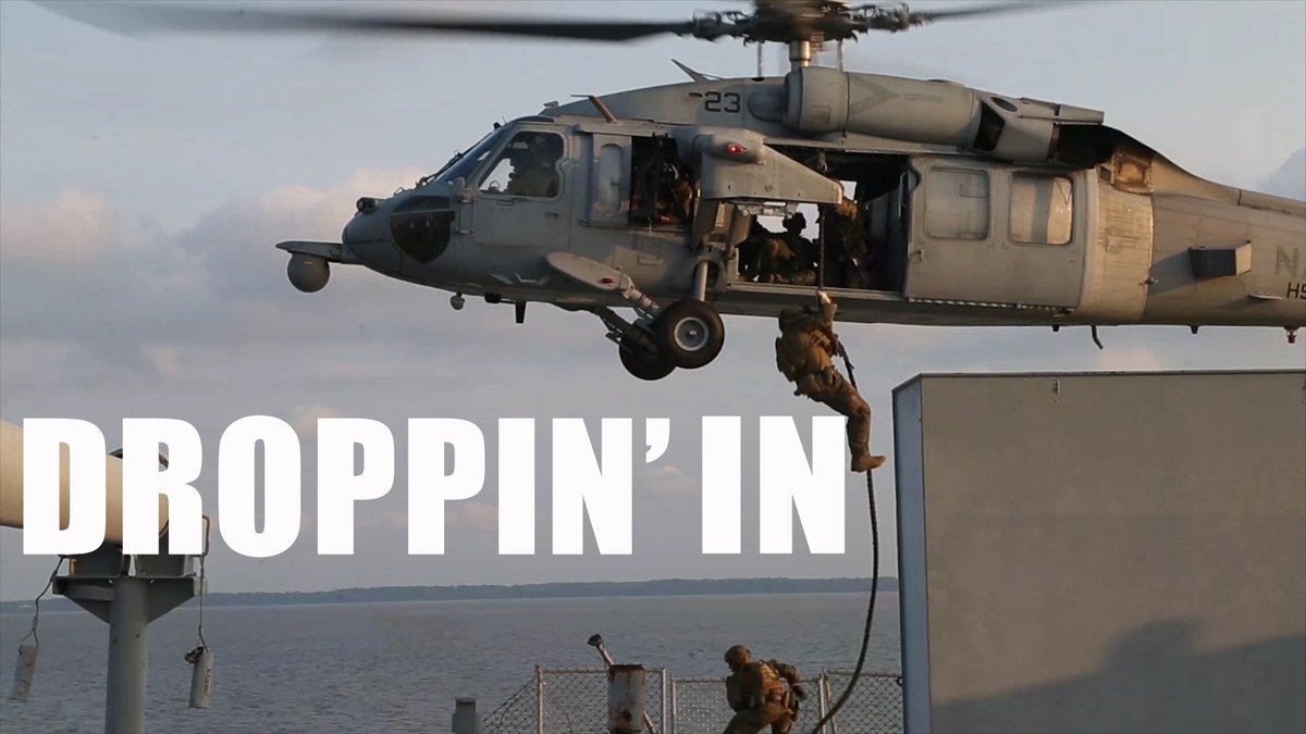Droppin' In Marines with @22nd_MEU execute a two-week Visit, Board, Search and Seizure course.