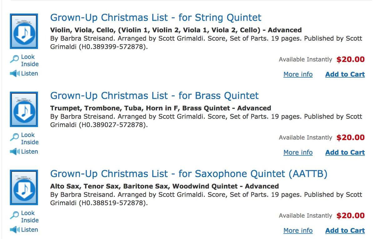 amy grant barbra striesand httpswwwsheetmusicpluscomtitle grown up christmas list for string quintet digital sheet music20774618 - Amy Grant Grown Up Christmas List